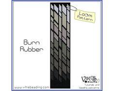 Loom Bracelet Pattern: Burn Rubber - INSTANT DOWNLOAD pdf - Buy 2 Get 1 free with coupon codes -  bl36