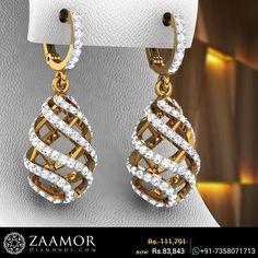 Hanging Cage Diamond Earrings  #zaamordiamonds #diamondearrings #hangingearrings #hangingearring #womensearring