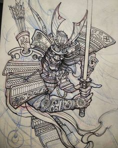 japanese tattoos designs and meanings Japanese Tattoos For Men, Japanese Tattoo Art, Japanese Tattoo Designs, Japanese Sleeve Tattoos, Samurai Sketch, Samurai Drawing, Samurai Artwork, Samurai Warrior Tattoo, Oni Tattoo