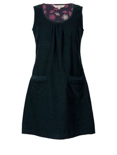 Cord Pinafore Dress   NR23   Nomads Clothing. With a shirt & tights for fall/winter.