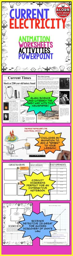 This unit is packed with activities, worksheets and 2 powerpoint presentations on current electricity. And an animation to add a spark to your lesson!