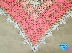 Final part of the Spring and Summer Triangle Shawl CAL.