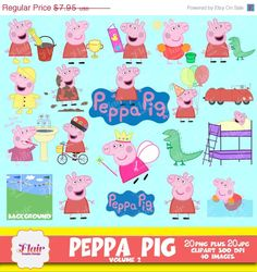 50% OFF PEPPA PIG Digital Clipart Volume 2, Children, Kids, Invitations, Peppa Pig Party, Printable Digital Graphic, Scrapbooking, by FlairGraphicDesign on Etsy https://www.etsy.com/listing/217312053/50-off-peppa-pig-digital-clipart-volume