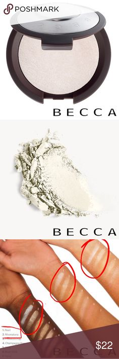 ⚪️NIB BECCA Shimmering Highlighter - PEARL BRAND NEW in Box, NEVER been swatched, BECCA Shimmering Skin Perfector® Pressed Highlighter  ⚪️COLOR: Pearl: A soft, luminescent white that's perfect for fair skintones   Authentic, as always. From my smoke free home. Original Retail: $38  ⚪️ABOUT: A best-selling creamy highlighter powder to light up the features you love with a high-shine finish. BECCA Makeup