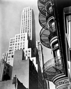 NYC. Murray Hill Hotel; From Park Avenue and 40th Street. Nov. 19, 1935 by Berenice Abbott.