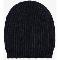 Rick Owens Black wool beanie (8,350 THB) ❤ liked on Polyvore featuring men's fashion, men's accessories, men's hats, mens beanie hats and mens wool hats