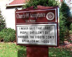 Church. No, really...