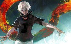 Download wallpapers 4k, Kaneki Ken, Tokyo Kushu, art, manga, Tokyo Ghoul