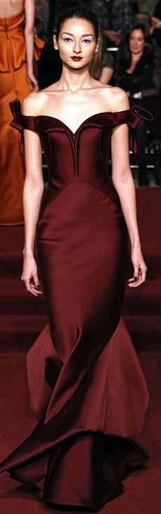 Zac Posen FALL 2013 burgundy dress