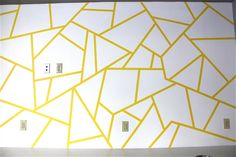 Wall Designs With Tape Geometric Triangle Wall Paint Design Idea With Tape Diy For Life Best Style