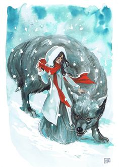 Snow White and Bigby Wolf (Fables) by Stephanie Hans Comic Book Artists, Comic Artist, Comic Books Art, Fables Comic, Red Riding Hood Story, The Wolf Among Us, Banana Art, Photo D Art, Big Bad Wolf