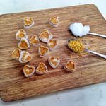 @ljclarkson called it - her favourite go-to snack!! And we can't get enough of these Coconut & Bee Pollen Bites either  Super easy & full of satisfying, good fats. YUM!  WHAT YOU NEED: · Bee Pollen · 1/4 cup Coconut Oil melted · Moulds (we used super cute love hearts)  MAKE IT HAPPEN:  Spoon bee pollen into moulds with melted coconut oil  Place moulds in freezer for 10mins or until frozen  Pop bites out of moulds & eat whenever that 3.30itis itch hits!  P.s Store in fridge or freezer…
