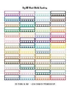 Blank Habit Trackers for the Big Happy Planner from myplannerenvy.com
