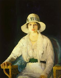 Portrait of Florence Davey by George Bellows