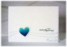 Blue Heart Anniversary by frenziedstamper - Cards and Paper Crafts at…