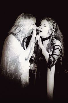 Christine McVie and Stevie Nicks of Fleetwood Mac Stevie Nicks Lindsey Buckingham, Buckingham Nicks, Members Of Fleetwood Mac, Stevie Nicks Fleetwood Mac, Some Girls, Beautiful Songs, Female Singers, Great Bands, Music Artists