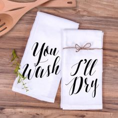 "Kitchen Towel Gift Set ""You Wash, I'll Dry"" Tea Towels Christmas Gift Ideas – Z Create Design"
