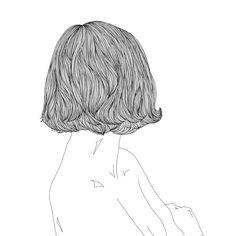 두렵고  #illustration #drawing #hair #bob #back #linedrawing #doodle #일러스트 #드로잉 #뒷모습 #단발