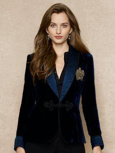 Embroidered Velvet Jacket - Jackets  Women - RalphLauren.com $269