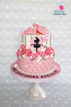 Ballerina Baby Shower Cake by Rose