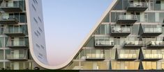 danish henning larsen architects has received the LEAF award - residential building of the year 2010   in the sub-category 'multiple occupancy' for their project 'the wave in vejle'.