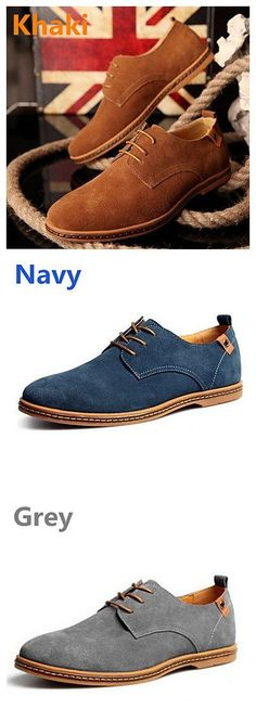 3a39f209 [$33.24] Men's Suede Shoes Suede Spring / Fall British Oxfords Brown /  Green / Khaki / Lace-up / Comfort Shoes / EU40