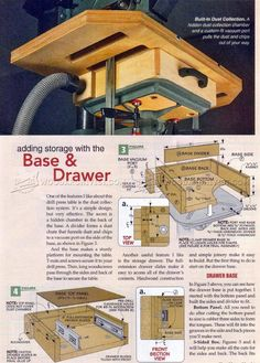 Drill Press Table Plans - Drill Press Tips, Jigs and Fixtures