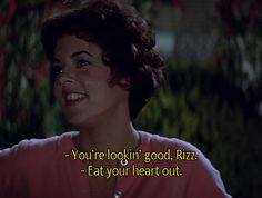I always pretended I was Rizzo when I was younger... Sandy is so boring. She proved Brunettes have more fun. <3