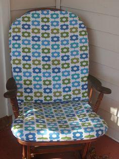 Custom glider cushion and pillow for nursery