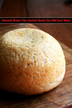 Peasant Bread -The Easiest Bread You Will Ever Make Read HERE --- > http://www.livinggreenandfrugally.com/peasant-bread-easiest-bread-will-ever-make/