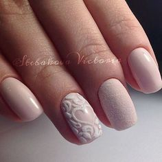 Pink prescious sweet simple light nail art for winter holiday 2016 2017 very elegant Gorgeous Nails, Love Nails, Pink Nails, Pretty Nails, Nail Manicure, Gel Nails, Acrylic Nails, Bride Nails, Wedding Nails