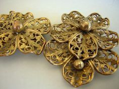 Vintage 40s 50s Extra Fancy Filigree Double by DecadencePast, $16.99