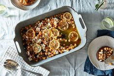 Joy the Baker's Olive Oil-Braised Chickpeas (More or Less) Leave out Feta to make Vegan :)