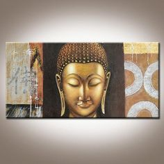 Buddha Oil Painting on Canvas 3D Effect