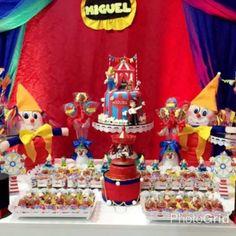 detalhes mesa de doces circo