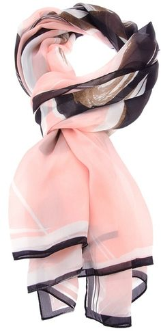 Yes...pink and black/color flash back.  It was my favorite color combo for clothing many yrs. ago.  ;) Fendi Pink Printed Silk Scarf