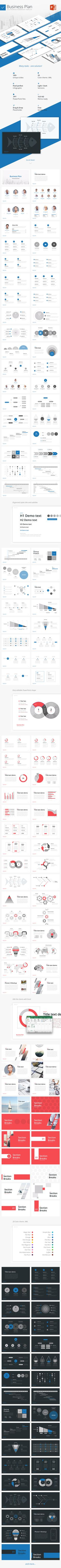 Download Now Business Plan – Multipurpose PowerPoint Template: 100 Unique slides, professional design, perfect pixel infographic, 20 Pre made XML color themes. 16:19 HD, Retina Ready. Ideal solution for marketing or business report: gallery slides, swot analysis, porter analysis, about us slide, table, timeline, gantt, pie and bar chart, fishbone diagram, funnel, pyramid, AIDA model and more. Easy to edit. 2 Click customization. #slides #ppttemplates #powerpointtemplates #startup #marketing