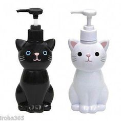 Details about Cat Hand Soap Bottle / Pump Dispenser / White Black / Japanese Goods Cute Kawaii - Cat themed things - Katzen Cat Lover Gifts, Cat Gifts, Cat Lovers, Chat Kawaii, Kawaii Cat, Crazy Cat Lady, Crazy Cats, I Love Cats, Cool Cats