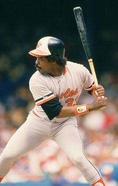 """""""You've never seen a guy look so bad in BP. He (Eddie Murray) saved it for the… Mlb Players, Baseball Players, Baseball Boys, Baseball Cards, Baseball Stuff, American Sports, American League, Baltimore Orioles Baseball, Black Power"""