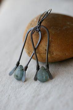 Blue Kyanite earrings by Tribalis on Etsy