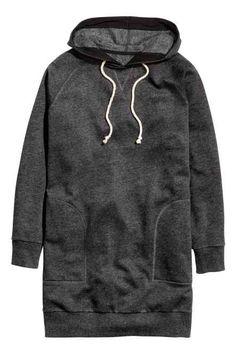 Long hooded top