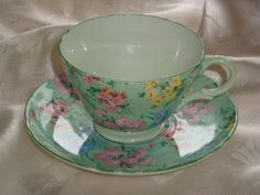 Shelly MELODY Chintz Tea Cup and Saucer Duet