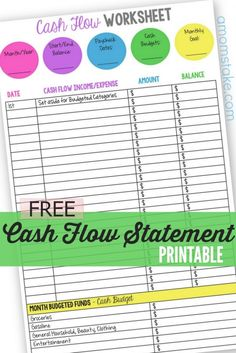 personal finance tracker cash flow statement helps you to keep track of where your bank balance should be each day of the month