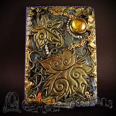 Handmade Polymer clay Autumn Ivy journal by Gempai-Creations.deviantart.com on @DeviantArt