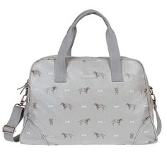 Oilcloth Weekend Stamford Bag - 'Terrier'