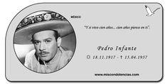 """#PedroInfante - Actor y Cantante Mexicano, uno de los íconos de la Época de Oro del Cine Mexicano, y está entre los mayores representantes de la música ranchera. Conocido también como """"El ídolo de México"""" o """"El Inmortal"""", participó en 60 películas y grabó más de 300 canciones."""
