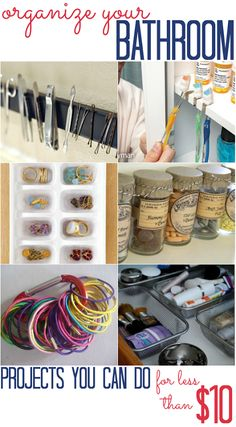 Bathroom Organization Projects