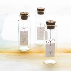 tiny message in a bottle by hollyanna | notonthehighstreet.com Great for valentines day gift for him or her!