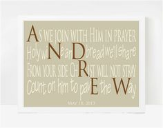 Catholic Gifts, First Communion Gifts for Boys, Christian Wall Art, Andrew 8x10