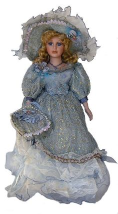 Victorian Collection Genuine Porcelain Doll | Victorian Porcelain Doll-Stunning Victorian doll-Porcelain Victorian ...